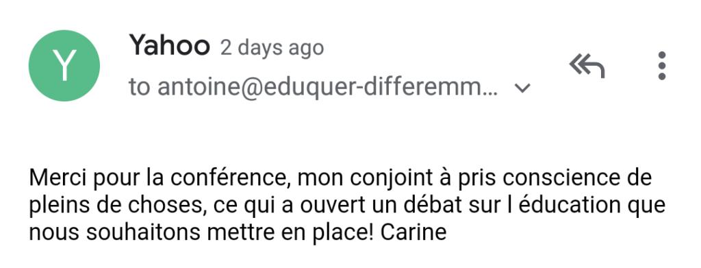Recommandation Éduquer différemment